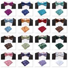 Floral Neck Tie Set Bow Tie mens