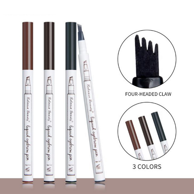 Beauty & Health Manooby Hottest Four-headed Claw 3 Colors Eyebrow Tattoo Tint Makeup Waterproof Easy To Wear Eye Brow Dye Tint Pencil For Women Punctual Timing