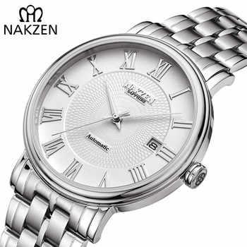 NAKZEN Men Classic Automatic Mechanical Watches Brand Luxury Man Stainless Steel Wristwatch Clock Relogio Masculino Miyota 9015 - Category 🛒 All Category