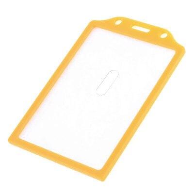 Orange Plastic Housing School Student Office Slide Card Holder