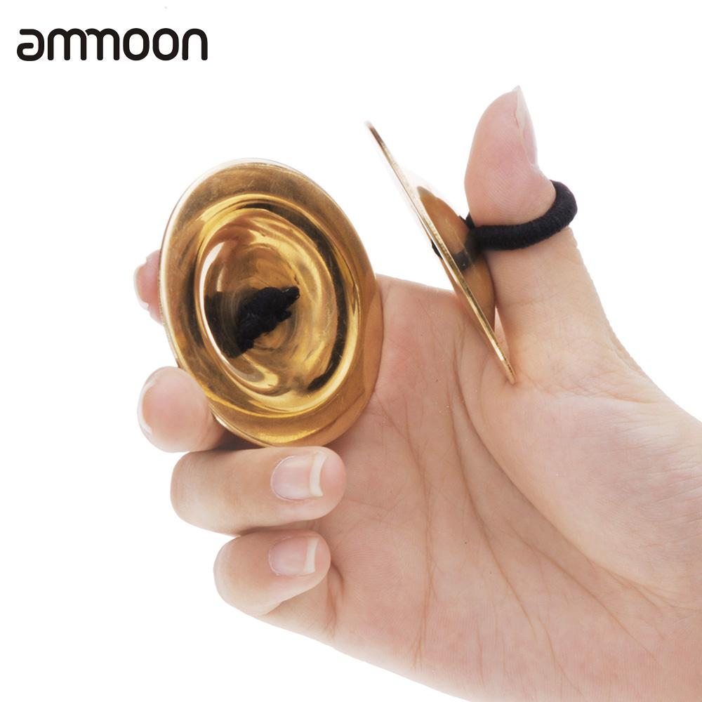 Toy Musical Instrument Belly Dancing Gold Finger Cymbals Musical Toy Christmas Gift for Child Kid Percussion Instrument