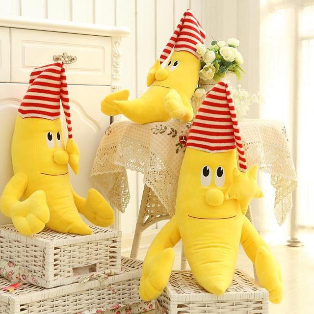 2016 Hot Venda Nova Engraçado Banana Boneca Bonito Travesseiro Brinquedos de Pelúcia Para Crianças E Adultos Presentes de Aniversário Perfeito Presente de Natal Macio