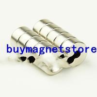 50 pcs Ímãs de Neodímio Strong Rodada Cilindro Anel Countersunk Buraco 3mm 10mm x 5mm