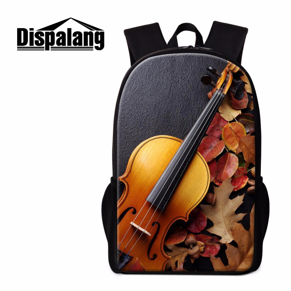 Luggage & Bags Dispalang Unique Violin Print Backpack For Children Women Small Traveling Bag Teen Girls Bookbags Guitar School Bag Bagpack Kids Good For Antipyretic And Throat Soother