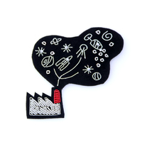 embroidery india silk pin on badges the smoke brooch badge for clothing parches termoadhesivos para ropa for clothes