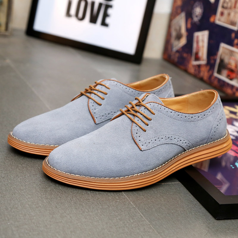 The Fashion Of New Leather Shoes With Round Head Is Casual Fashion With Single Shoes