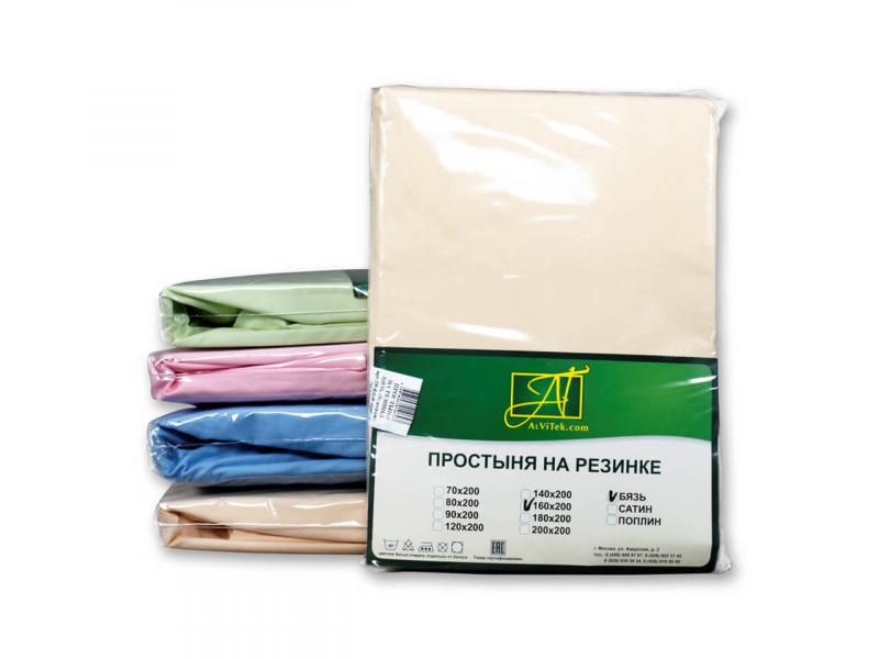 Bed Sheet with elastic band АльВиТек, 140*200*25 cm, beige, Poplin r5067a elastic cold proof keeping warm knee pads beige pair