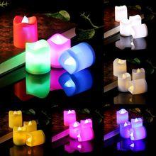 СВЕТОДИОДНЫЙ Электрический свечи Батарея управляемая непригорающий бездымный противень беспламенная свеча Свадебная вечеринка домашний декор романтический Dec-26D