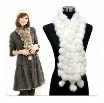 2014 spring new genuine rabbit fur scarf women's long fur muffler scarf fur scarves for autumn winter