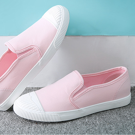 Casual shoes pedal lounged breathable canvas flat female