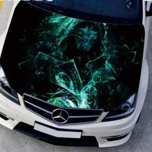 Настраиваемая HD струйная наклейка на голову капот Наклейки на автомобиль графические наклейки крышка двигателя DIY камуфляжная защитная пленка