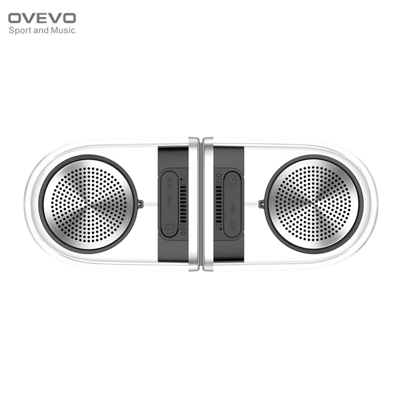 Original OVEVO D12 Transparent Magnetic Wireless Bluetooth Speaker TWS Dual Outdoor Speaker 3D Stereo Subwoofer IPX5 Waterproof wireless bluetooth speaker led audio portable mini subwoofer