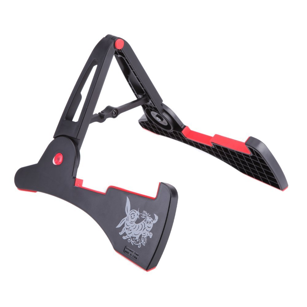 AROMA AGS-03 Stand A-frame Holder Bracket for All Sizes of Guitars Basses Stringed Instrument Universal Compact Rabbit Shape