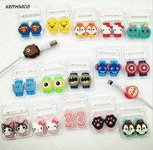 KEITHNICO 2Sets Cartoon Cable Protector Saver Charging Data Line Saver Cable Winder Protection Sleeve For iPhone