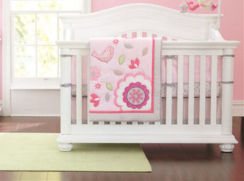 Discount! 7pcs Embroidered Baby Cot Bedding Set 100% Cotton Crib Bedding ,include(bumpers+duvet+bed cover+bed skirt)