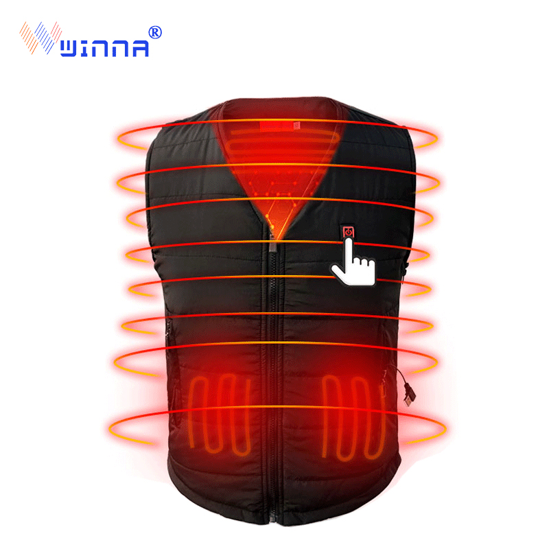 NEW men warm heated vest winter camping warm thick vest Ski Hunting usb charging vest woman 3 level  size s-xxxl blackNEW men warm heated vest winter camping warm thick vest Ski Hunting usb charging vest woman 3 level  size s-xxxl black
