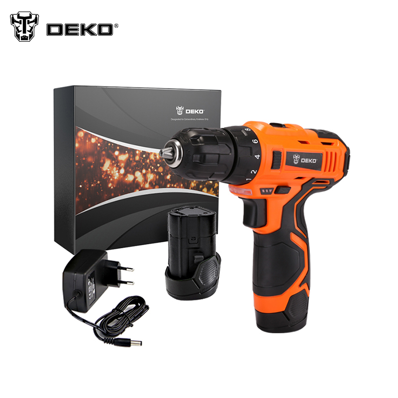 Electric Cordless Dril DEKO ORG12DU3-S2 Home DIY