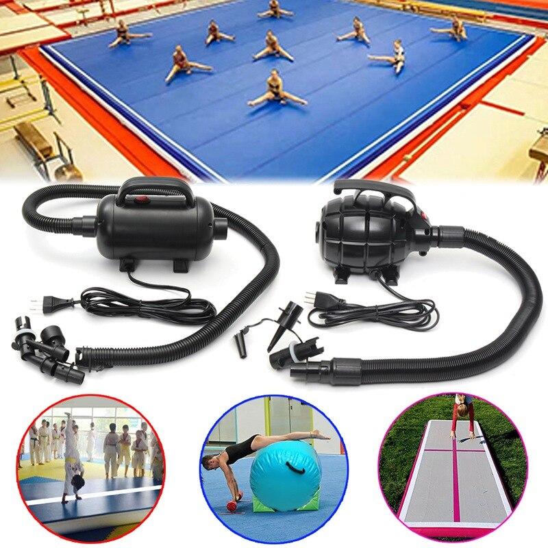 Pompe à Air électrique SGODDE 110/220 V 500 W pour tapis de gymnastique Air Tumbling gymnastique Tae Kwon Do Pad pompe noire pour tapis de gymnastique gonflable