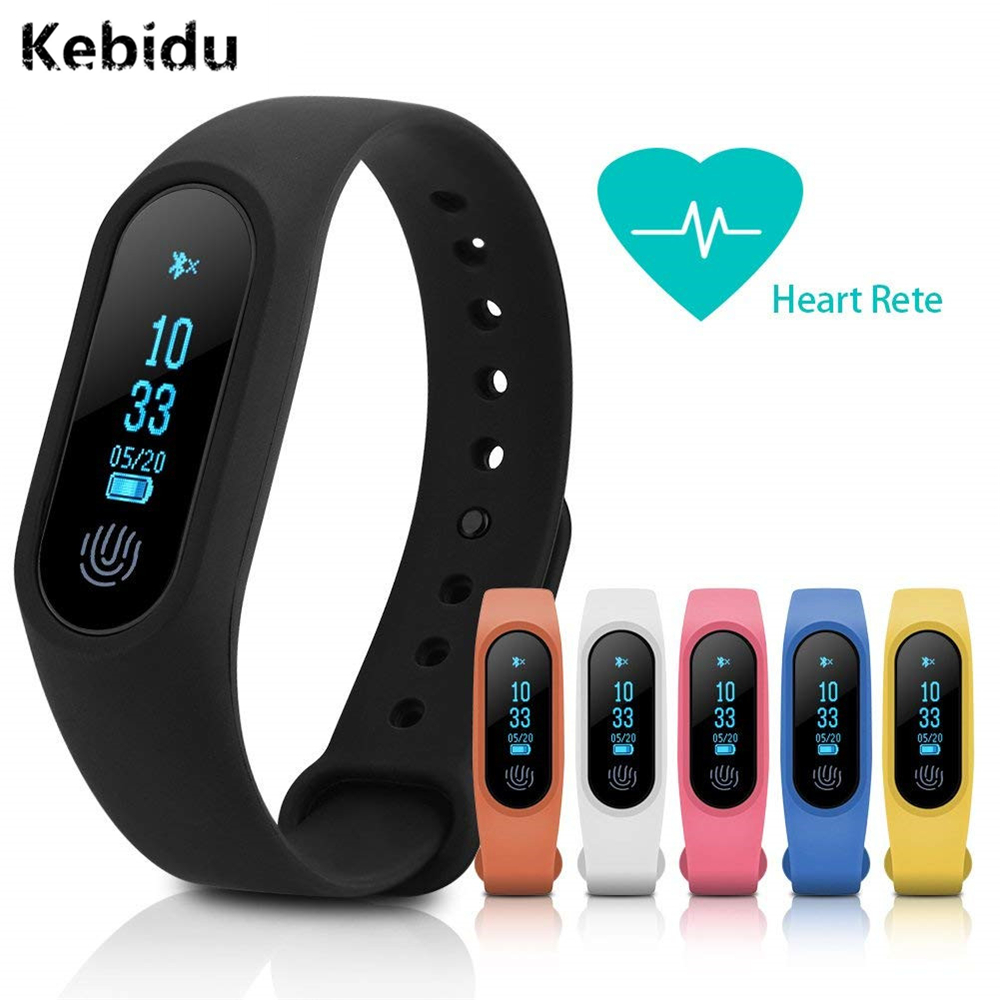 Kebidu Bluetooth M2 Band Smart Wristband Heart Rate Fitness Bracelet Sport Monitor Tracker For IOS Android Phone