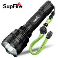 Supfire F6 Promotion CREE XM L T6 1100 lumens High Power LED Flashlight led torch self defense with 1*26650 Battery