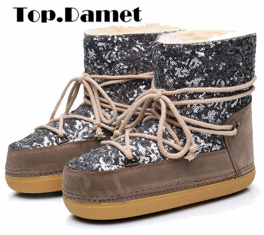 Top.Damet Women Snow Boots Fashion Winter Warm Shoes Leather Round Toe Solid Color Slip On Plush Ankle Boots Ladies Plus SizeTop.Damet Women Snow Boots Fashion Winter Warm Shoes Leather Round Toe Solid Color Slip On Plush Ankle Boots Ladies Plus Size