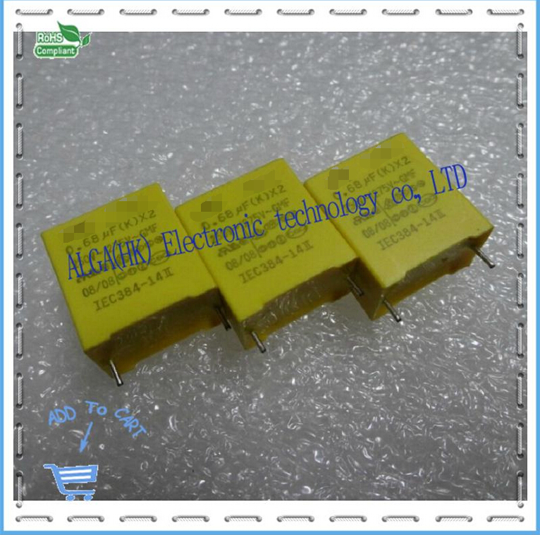 UTX HQX X2 safety film capacitor 0.68 uf 680 nf 684 684 vac P = 15 mm image