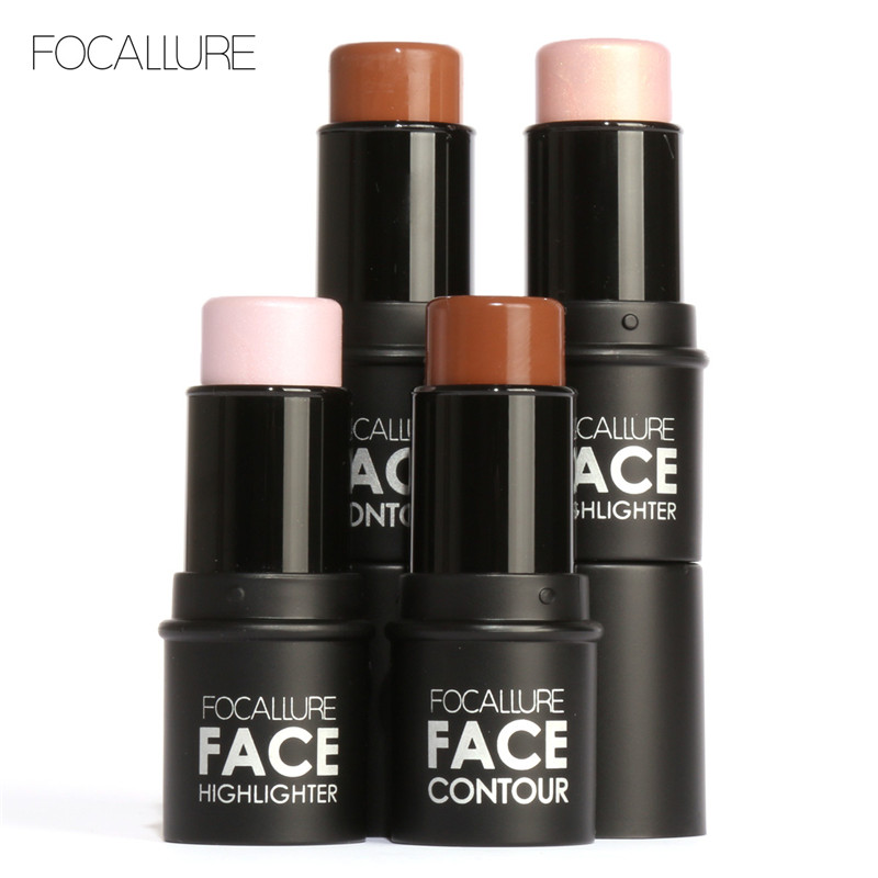 Focallure Stik Bronzers &Highlighter 4 Colors Concealer/Contour /Highlighter Powder Highlighter Makeup Shimmer Shine Women Gift