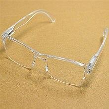 Masculino feminino branco claro sem aro resina presbiopia reader óculos moldura de plástico óculos de leitura diopter 1.0 2.0 a 4.0 016