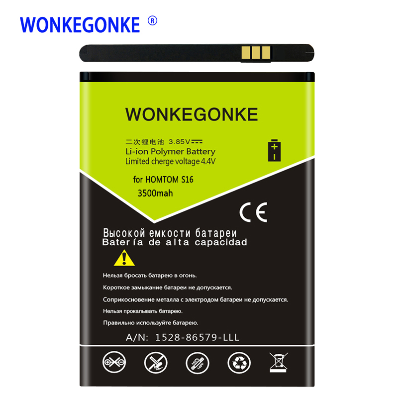 WONKEGONKE For <font><b>HOMTOM</b></font> <font><b>S16</b></font> <font><b>battery</b></font> 5.5inch MTK6580 Replacement Mobile Phone <font><b>Batteries</b></font> Bateria image