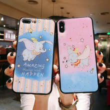 Glitter Cartoon Dumbo Elephant case For Samsung Galaxy S9 S8 Plus Cover For Samsung Note 8 S9 S10 Plus S10e S10 Lite Phone cases цена