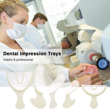 5pcs Dental Impression Trays Dental Supply Teeth Holder Plastic Dentist Tools