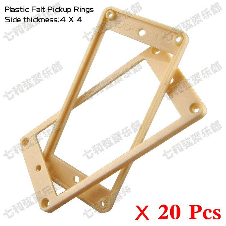 10 Piar Cream Plastic Flat Electric Guitar Humbucker Pickup Ring Frame Mounting Ring Neck&bridge Pickup Ring 4mmx4mm