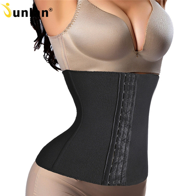 b9dd50aac4b81 Non-Latex Steel Boned Waist Trainer Workout Long Torso Waist Trainer Corset  for Weight Loss Slimming Belt Hot Shaper Bodysuit