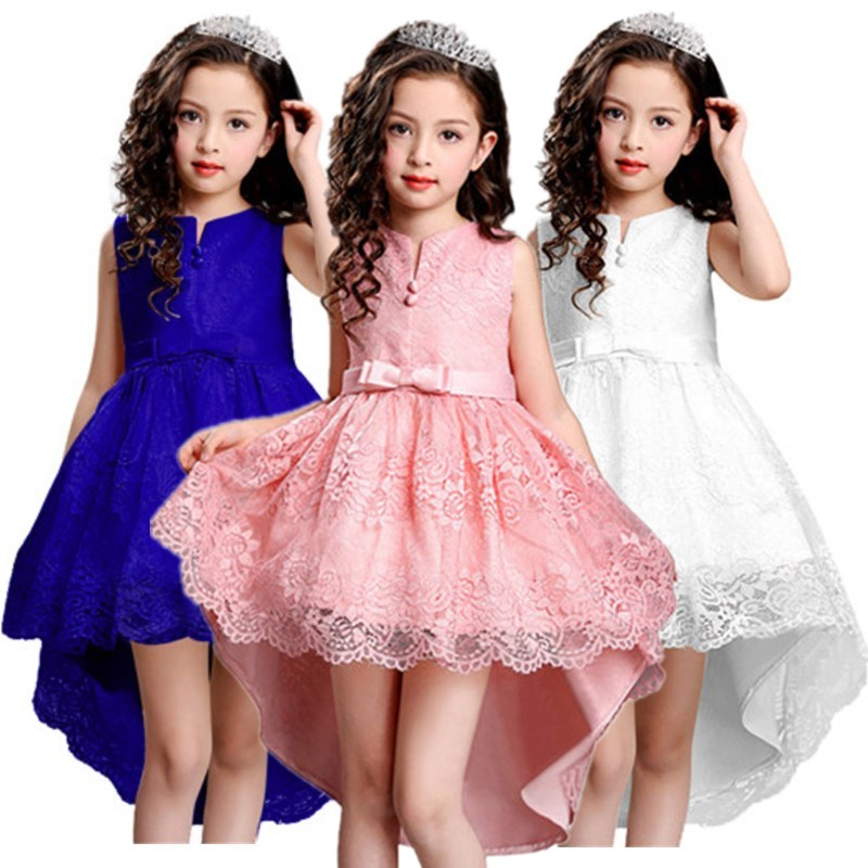 Children's Christmas Dresses For Girls Wedding Party Baby Girl Kids Prom Gown Dress Flower Tutu Girl Clothing girl party dress christmas dress for girl 2017 summer formal girl flower gir dresses junior girls prom gown dresses baby clothes