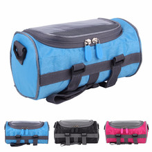 Bicycle Front Tube Bag Waterproof Touch Screen Phone Pouch Waist Shoulder Pack Multi-functional Gym Fitness Bag