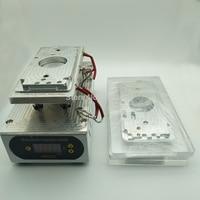 220 v/110 v capa traseira máquina separada removedor de aquecimento de vidro tela quebrada com 3 pces molde para iphone 8/8 plus/x reparo|Kits ferr. cons. telef.| |  -