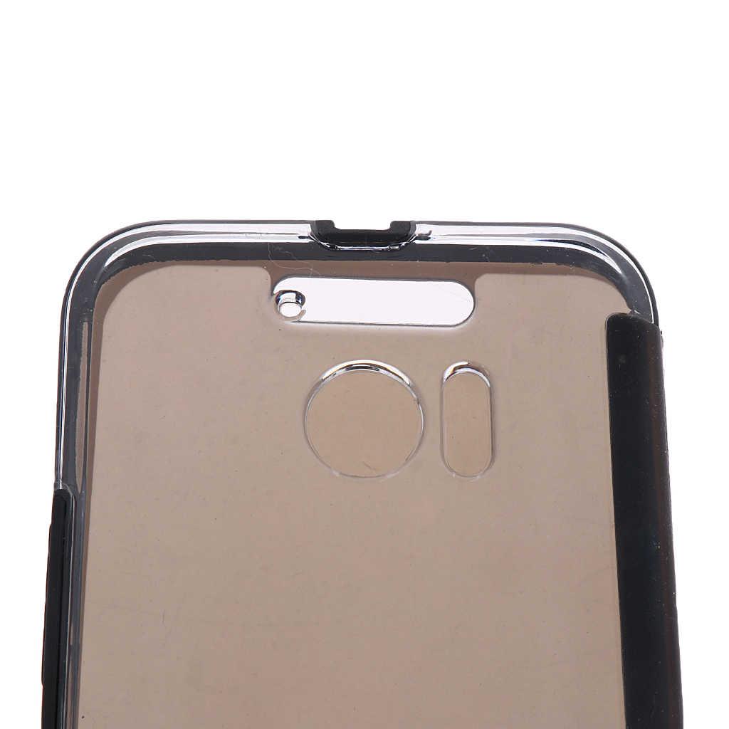 ซิลิโคน Dot ดูฝาครอบสมาร์ทพลิกป้องกันสำหรับ HTC 10 โทรศัพท์มือถือกระเป๋าคริสตัลล้าง PC back & soft TPU ฝาครอบด้านหน้า