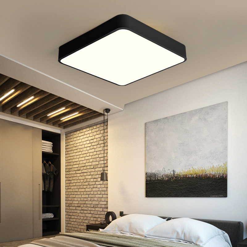 Modern Minimalism Iron Square Rectangle Led Balcony Bathroom Ceiling Light Lamp Fittings Fixture