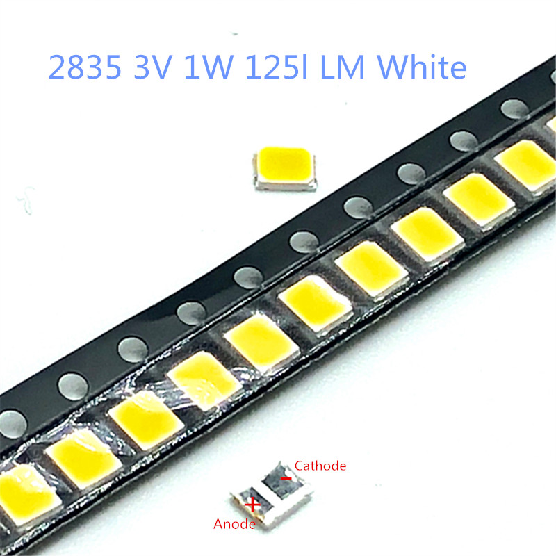 Active Components Romantic 50-1000pcs/lot Cold White Led Backlight 1210 3528 2835 3v 1w 120l Lm Cool White For Lg Innotek Lcd Backlight Led Tv Application Online Shop
