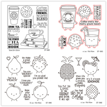 Cute fruit/drink/tree Clear Stamps For Scrapbook DIY Photo Cards Account Rubber Stamp Finished Transparent Chapter Size 11x16cm wyf842 scrapbook diy photo album account transparent silicone rubber clear stamps 11x16cm how lovely owl autumn is calling