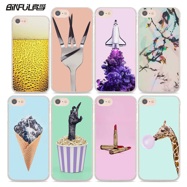 quality design 71c03 d124f US $1.85 38% OFF|BiNFUL summer Avocado Guitar beer clear Ultra Thin Cases  Cover for Apple iPhone 8 8Plus 7 7Plus 6s 6Plus X-in Half-wrapped Case from  ...