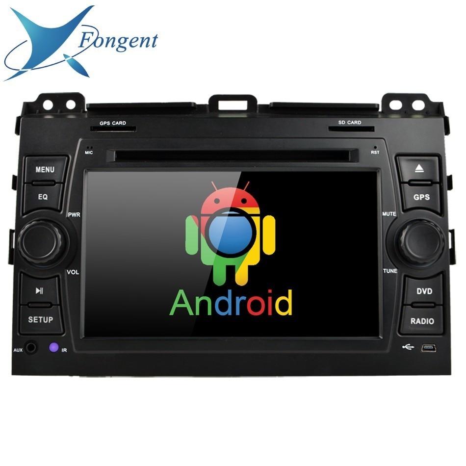 Для Toyota Land Cruiser Prado 120 2003 2004 2005 2006 2007 2008 2009 2010 автомобилей Android мультимедийный плеер 2din радио DVD видео gps