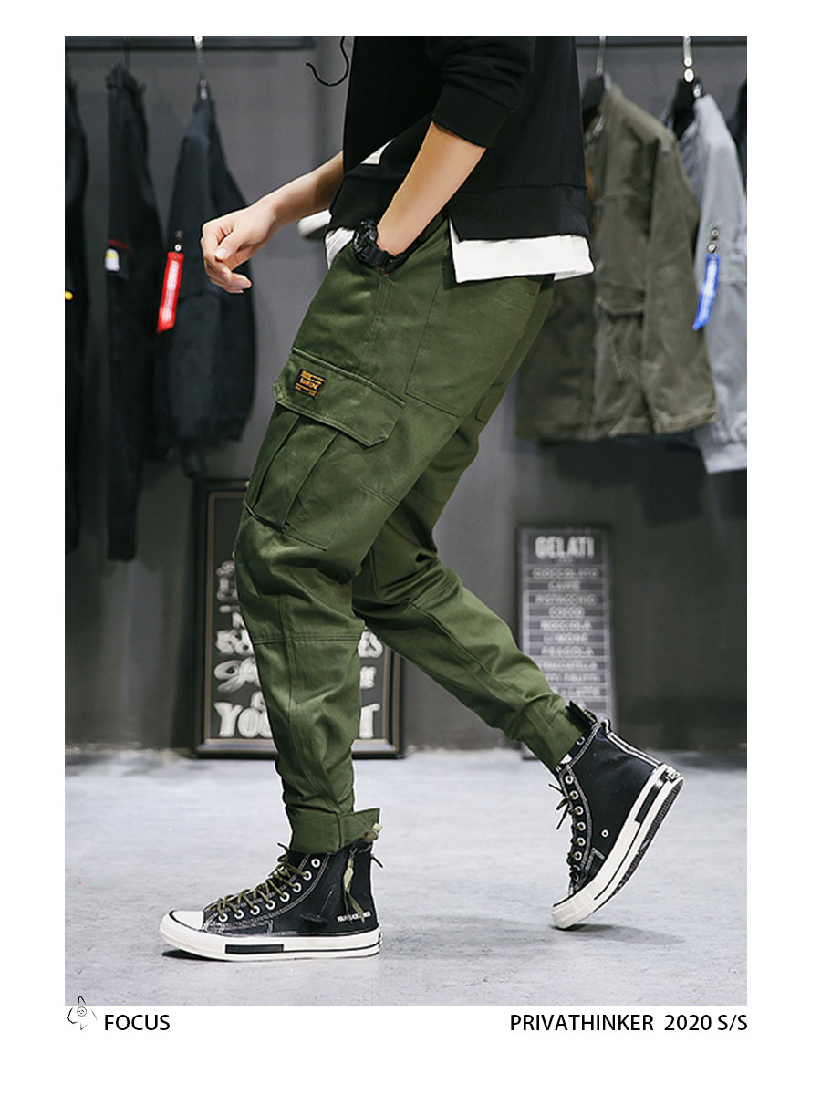 Privathinker Cargo Pants Men 2020 Mens Streetwear Joogers Pants Black Sweatpant Male Hiphop Autumn Pockets Trousers Overalls 70