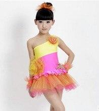 Infant child costume female performance wear tulle dress female child dance skirt