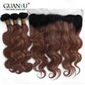 8A Grade Cheap #1B/ 33 Brazilian Virgin Hair Body Wave 3 Bundles With Ear to Ear 13x4 Lace Frontal Closure Bleached Knots