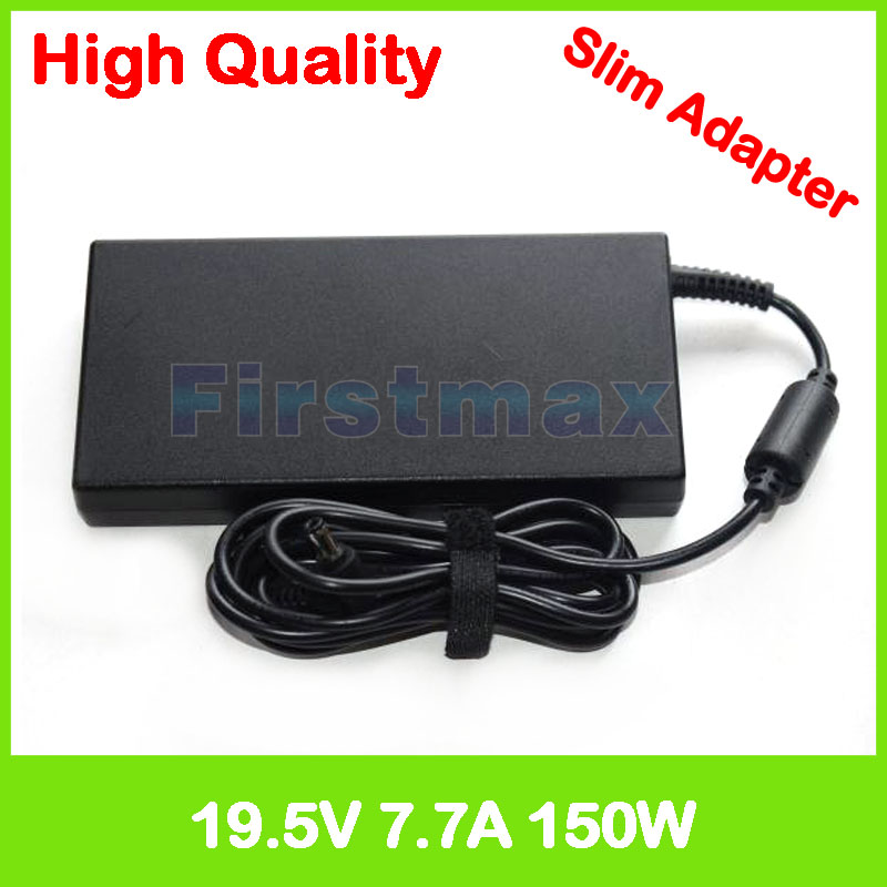 Slim laptop charger 19.5V 7.7A 19V 7.9A ac power adapter for MSI GS63 7RD 7RE GS70s GS72 6QE MS-1776 GT660 MS-16F1 GT660R GT660S split sleeve solid blazer