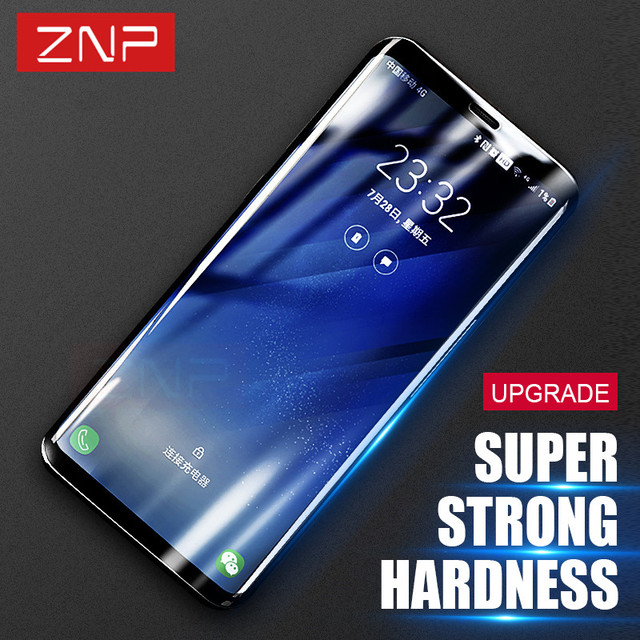 ZNP 3D Full Curved Screen Protector Tempered Glass For Samsung Galaxy S8 Plus S8 Tempered Glass For Samsung S7 Edge Glass Film