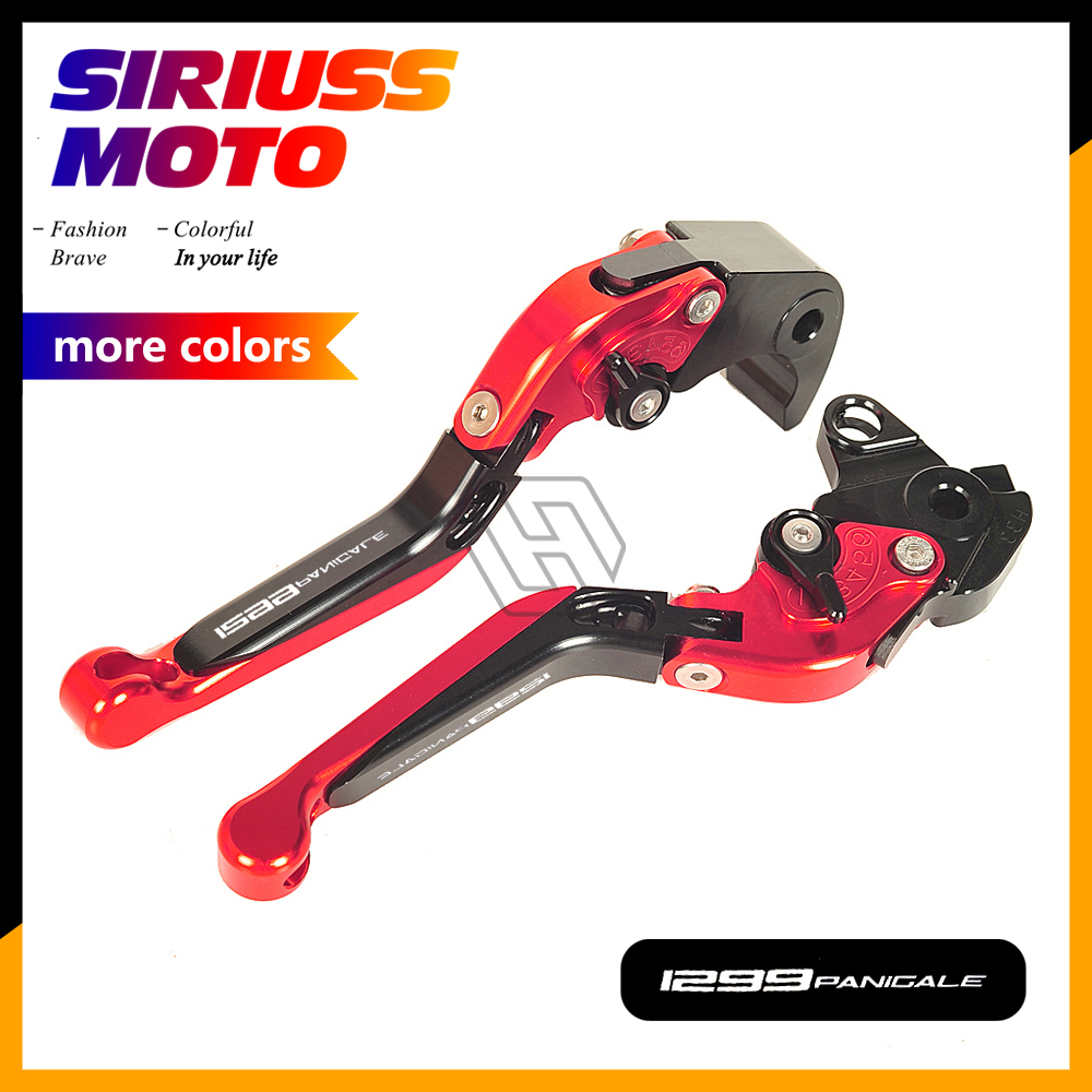 CNC Motorcycle Foldable Lever Motocross Brake Clutch Levers Case for Ducati 1299 Panigale S R 2015 2016