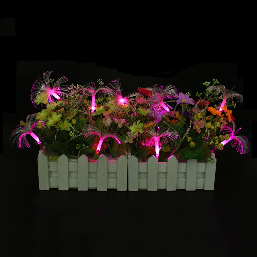 Fibre optic christmas flowers and xmas flowers - Ac110v 220v 10m 100 Led Optical Fiber Fairy String Light Twinkle Light For Christmas And