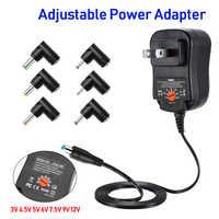 Adattatore AC/DC 4.5 V 5 V 6 V 7.5 V 9 V 12 V 2A 2.5A Regolabile Universale di Alimentazione del Caricatore di Commutazione Adattatore UE Per La luce di Striscia del LED